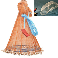 480*480*240cm Fishing Net With Flying Disc High Strength Fish Network Automatic Fishing Tools Outdoor Hand Throw Catch Fishing