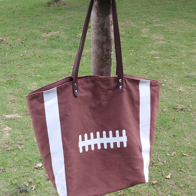 Dark Brown Canvas Tote Large Handbag With Pu Handle And Magnetic Snap Closure Team Accessories Bag Dom106292
