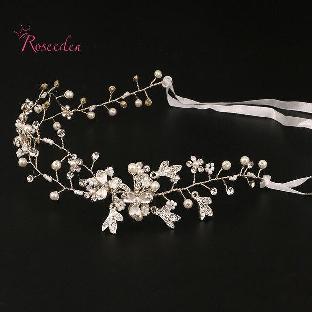 Handmade Bridal Hair Accessories New Tiara Head Piece crystal head piece Women Girls rhinestone pageant tiaras and crowns RE682