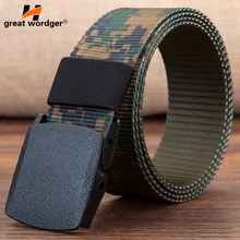 Mens Automatic Buckle Nylon Belt Male Army Tactical Belt Men Outdoor Quick Dry camouflage Military Waist Canvas Belts 120cm140cm military tactical nylon shotgun belt camouflage light gray