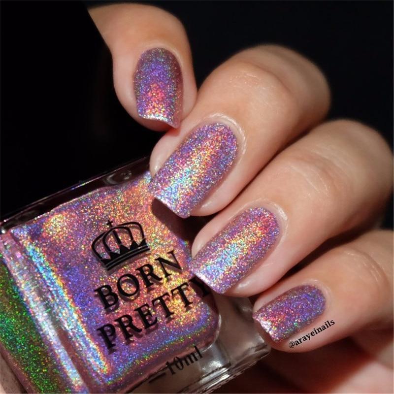 BORN PRETTY 10ml Holographic Holo Glitter Nail Polish ...