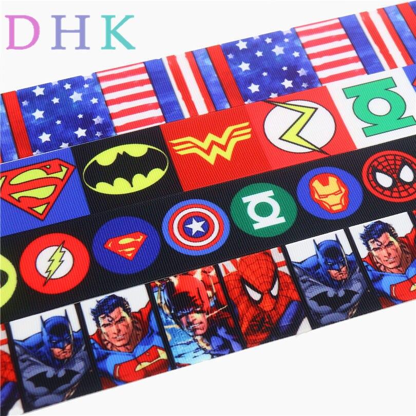 "SUPER HERO SUPERMAN BLUE 7//8/"" Grosgrain Ribbon 1,3,5,10 Yards SHIP FROM USA"
