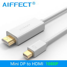 AIFFECT 1080P Mini DP to HDMI Cable Mini DisplayPort to HDMI Cable Thunderbolt Port HDMI Mini DP Cable Cord Line Support 2K 4K цена и фото