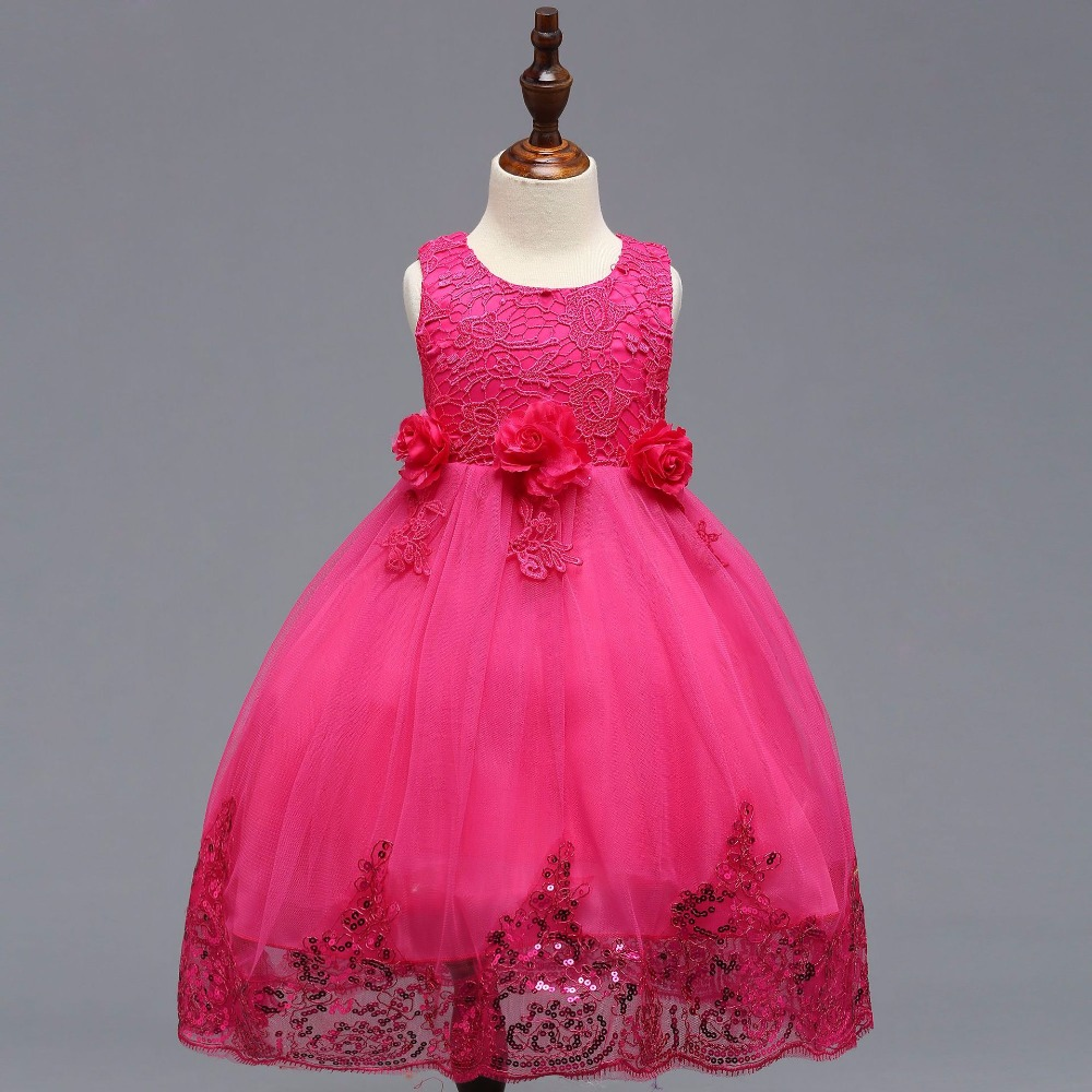 Ball Gown Cap Sleeve Lace   Flower     Girl     Dress   Pink Ivory Long Tulle Little   Girl   Party Gowns vestidos de comunion