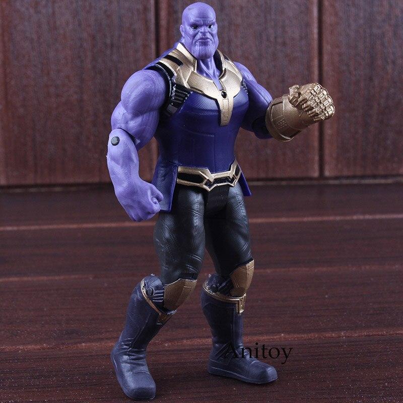Avengers Infinity Guerra Thanos Figura PVC Marvel Avengers Action Figure Thanos Giocattoli Illuminazione Da Collezione Model Toy 17 cm