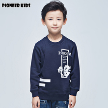 Pioneer Kids 2016 Autumn/winter New Arrival big boys hoodies long sleeve T-shirt Fashion Hoodies Boys Warm Sweatshirts