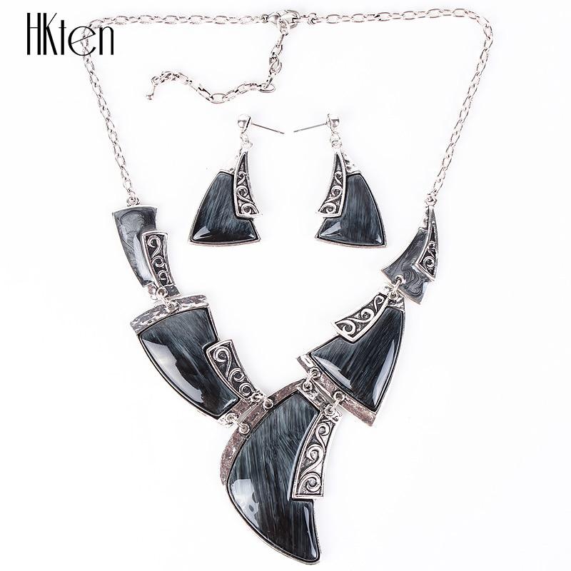 MS20708 Moda Markası Zərgərlik Antik Gümüşü örtülmüş - Moda zərgərlik - Fotoqrafiya 6