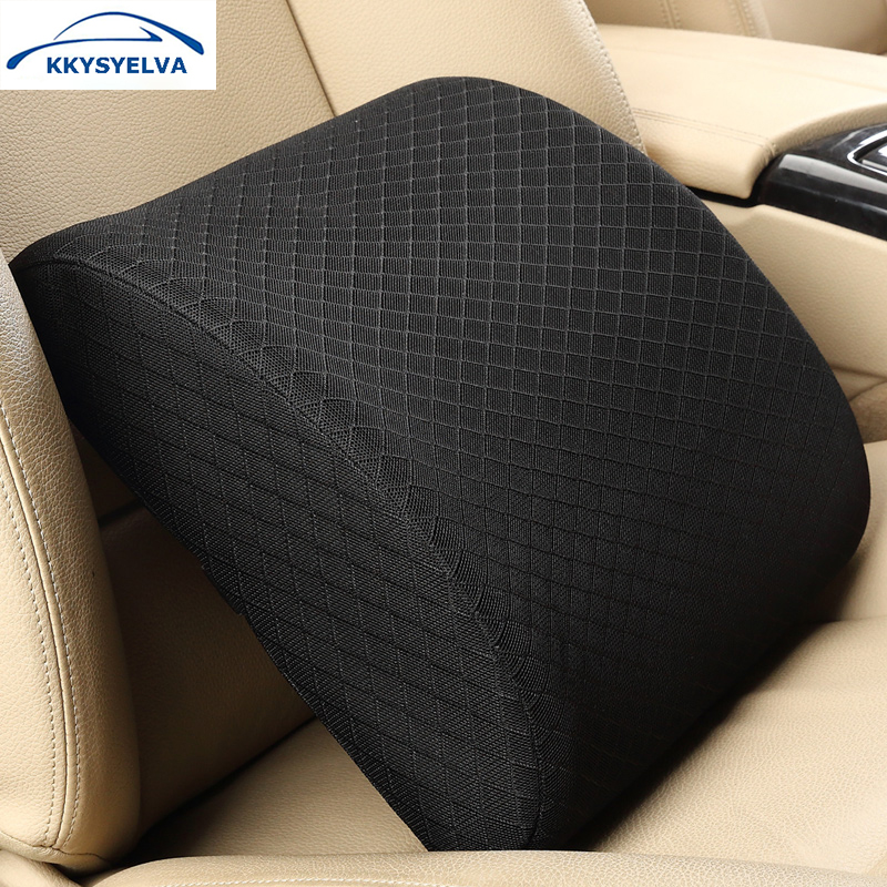 KKYSYELVA Memory Foam Lumbar Support Back Cushion Pillow Relieve Pain Suit for Office Home Chair Car Seat Interior Accessories