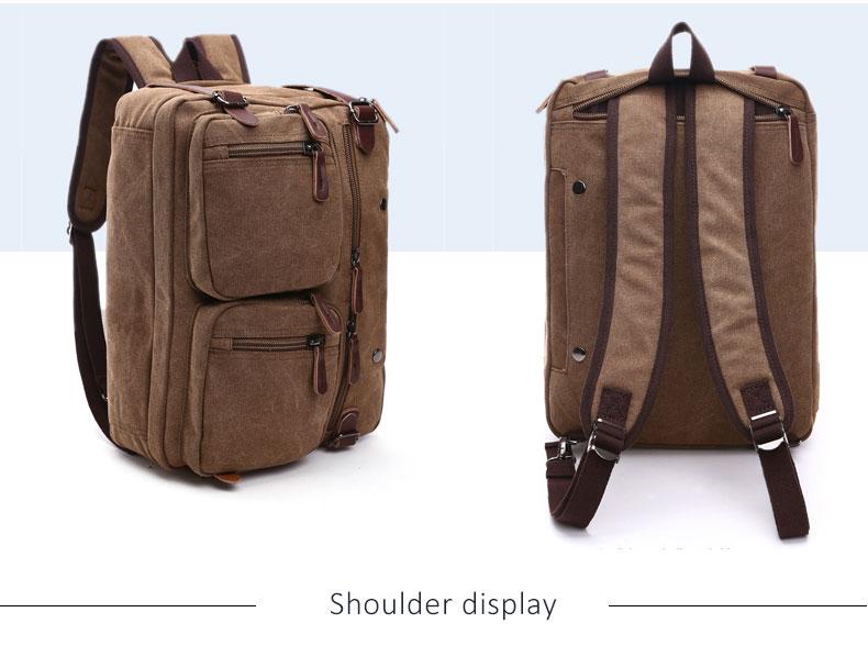 HTB1MALrKbGYBuNjy0Foq6AiBFXae Scione Men Canvas Bag Leather Briefcase Travel Suitcase Messenger Shoulder Tote Back Handbag Large Casual Business Laptop Pocket