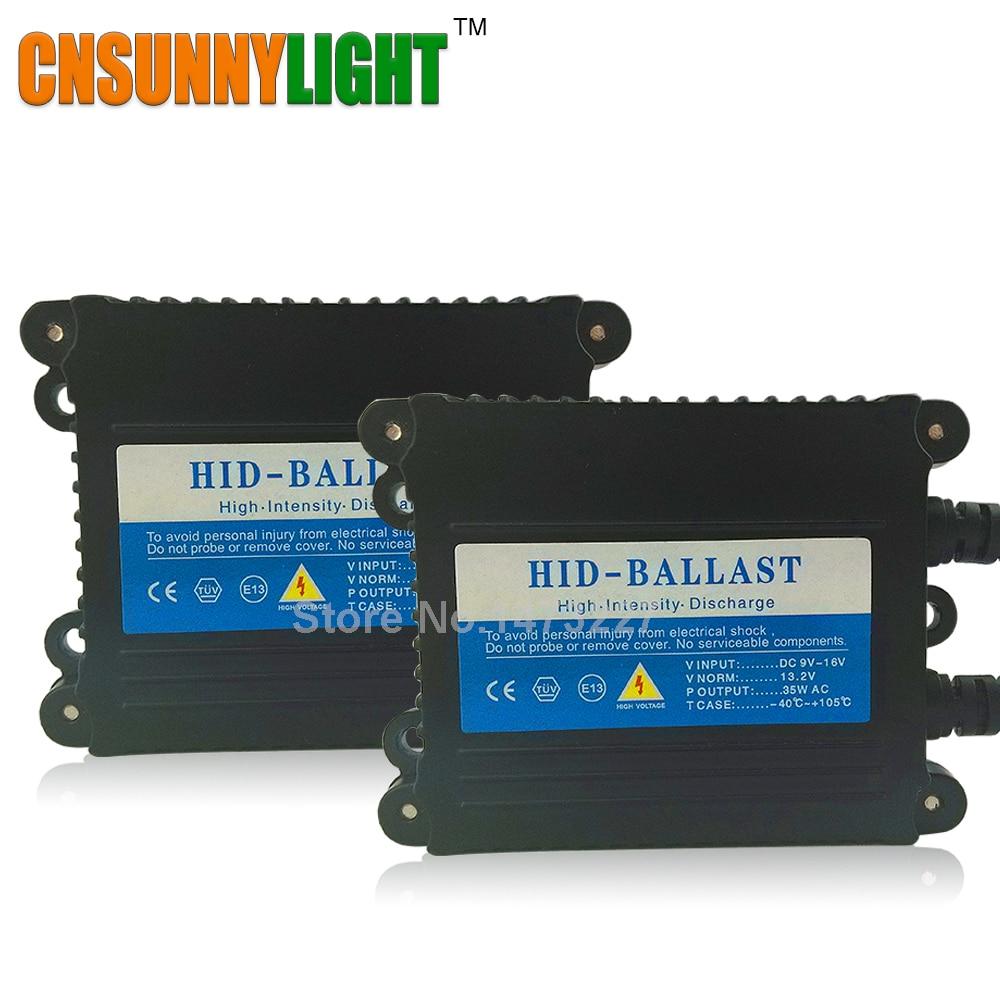 CNSUNNYLIGHT Alta Calidad 12 V 35 W AC Delgado OCULTADO Xenón Reemplazo Electrón