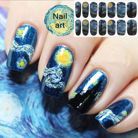 New 6pcslot Nail Art Sticker Design Abstract Painting Dream Beauty