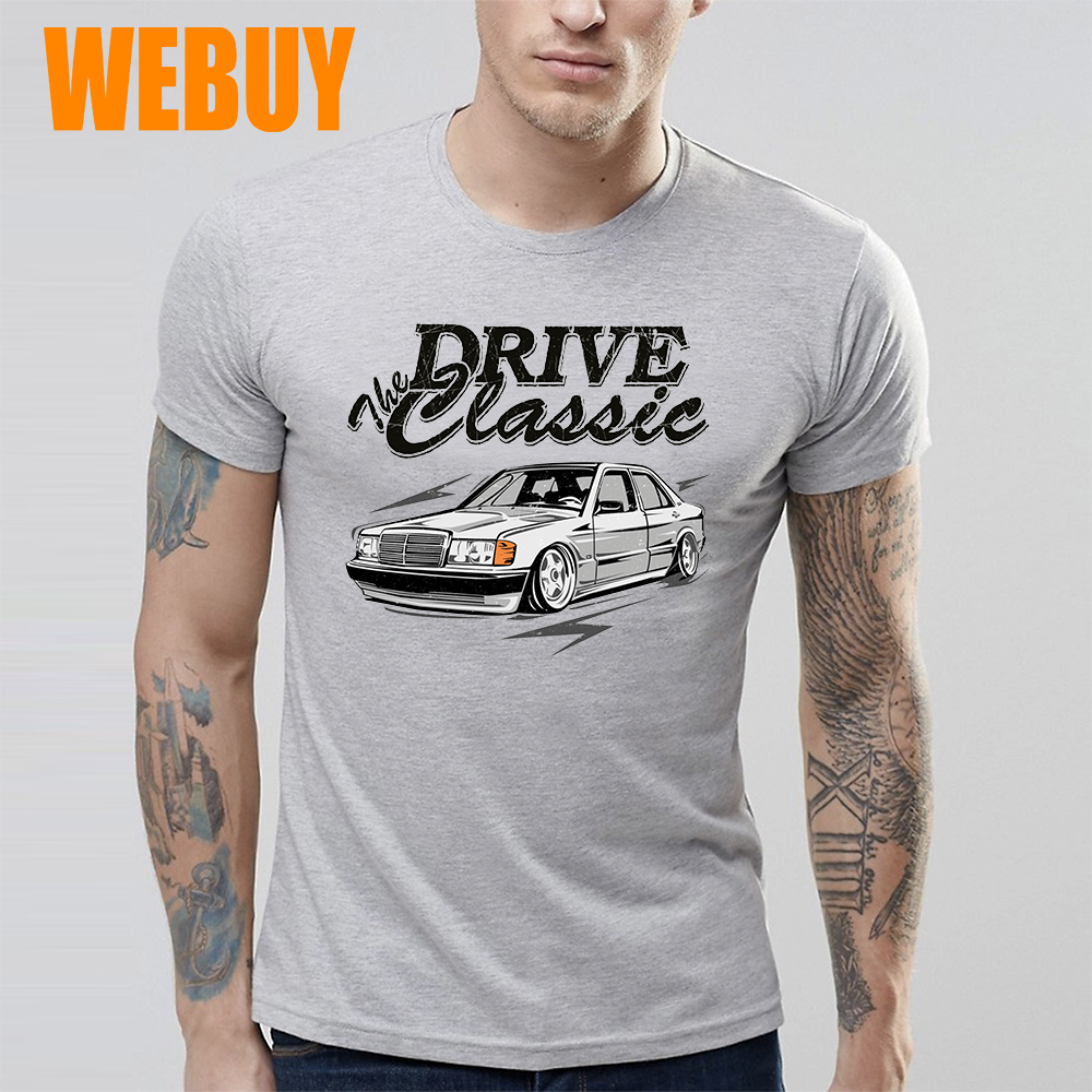 For Man New T Shirt S-6XL Drive Classic Car W201  T Shirt Top Design New Arrival Fashionable T Shirt New Summer
