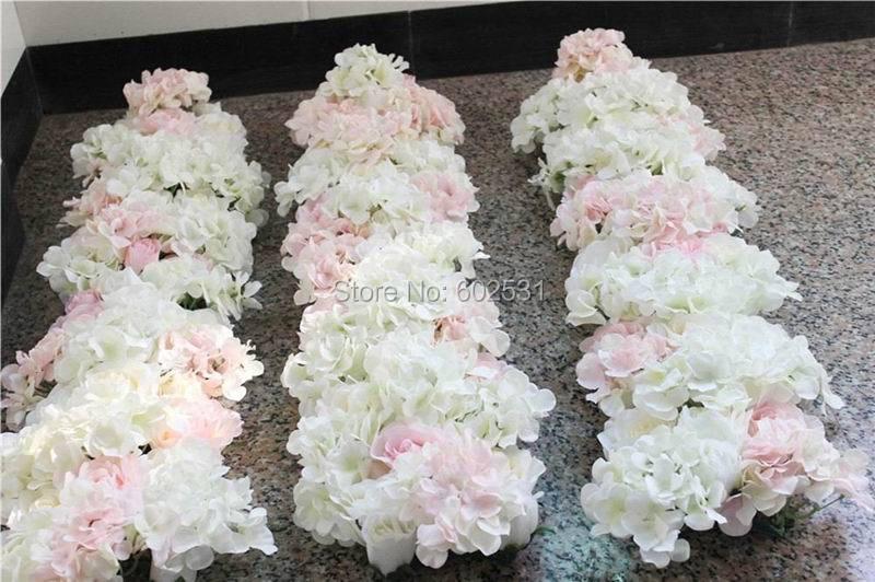SPR 무료 배송 높은 새로운 10pcs / lot 웨딩 작은 아치 꽃 벽 무대 배경 도매 인공 꽃 테이블 중심