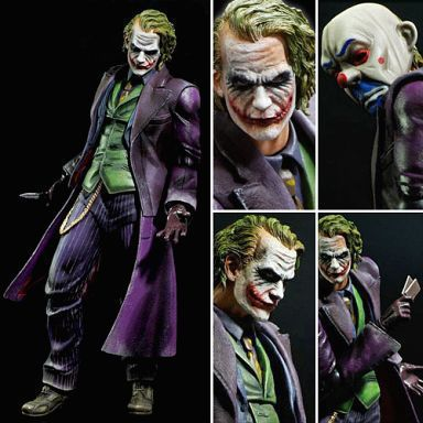 Playarts PLAY ARTS KAI <font><b>Batman</b></font> <font><b>The</b></font> <font><b>Dark</b></font> <font><b>Knight</b></font> <font><b>The</b></font> <font><b>Joker</b></font> PVC Action Figure Colletible <font><b>Model</b></font> <font><b>Toy</b></font> 21cm KT1812