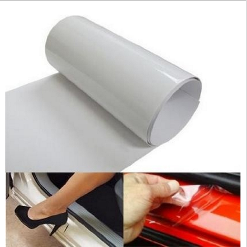 Car sticker 10cm x 1M 2M 3M 5M Rhino Skin Car Bumper Hood Paint Protection Film Vinyl Clear Transparence film car cover styling vinyl tag game console protection scratches cover sticker for ps4 wireless controller decoration cool styling skin