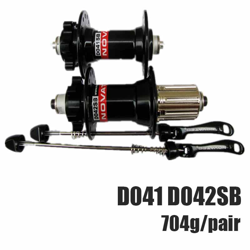 NOVATEC D041 D042SB  Hubs MTB Mountain Bike Bead 4 Bearing Disc Brake Hubs 28-32H O.L.D. front 110 mm Rear 135mm QR for SHIMN0 original novatec d881sb d882sb mtb downhill mountain bike hubs 4in1 15 12 142 thru 32 holes disc brake bicycle hub for am fr dh