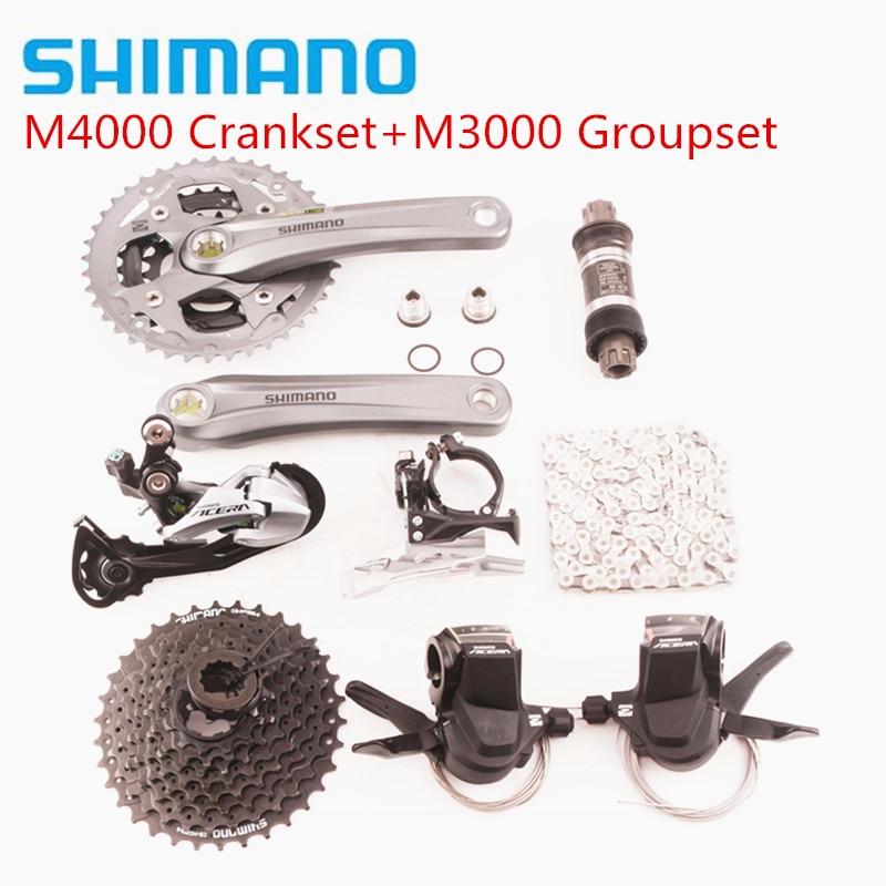 SHIMANO ACERA M3000 M4000 27 3 9 Speed Mountain Bike MTB Drivetrain Groupset upgrade for m390