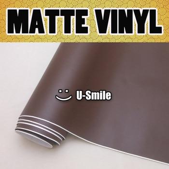 Matte Coffee Vinyl Wrap Matte Coffee Vinyl Film Matte Brown Car Vinyl Air Free Bubble For Vehicle Wraps Size:1.52M*30m/Roll