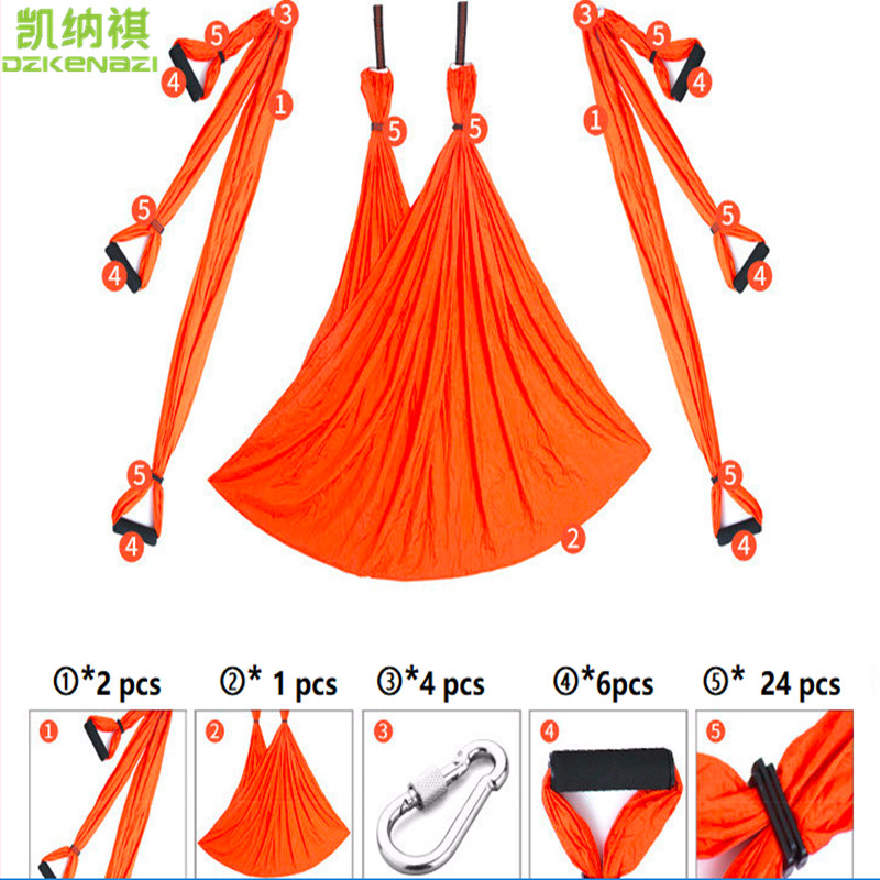 250 X 150 CM/PCS 210T Polyester Taffeta Yoga Hammock Swing Latest Multifunction Anti-gravity Yoga Belts For Yoga Training