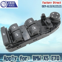 Factory Direct Front Left Door Electric Power Window Switch Apply For BMW 61319122121 E70 E71 X5