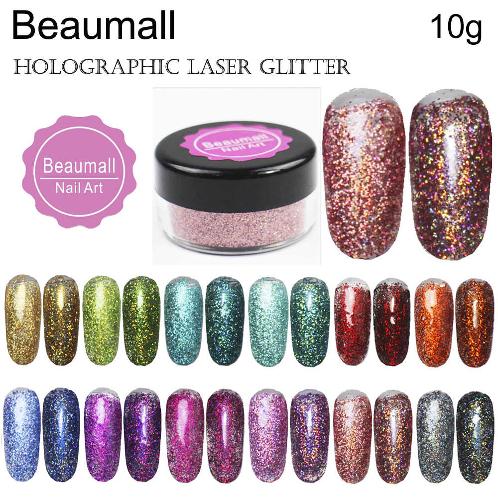 10g/pot ,0.2mm (1/128 008) Holographic Glitter Laser Powders Chrome Pigments Glitters Dusts For Nail, Tattoo Art,Make Up.