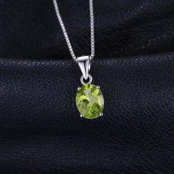 Natural lime Green Pendant Necklace Sterling Silver Gemstones Statement Necklace  1