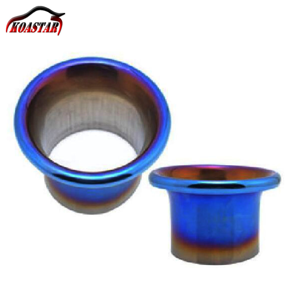 76mm 89mm 3.5inch Turbo Horn Funnel Kit Stainless Steel Titanium Blue End Cold Air Intake System Velocity Stack Kit76mm 89mm 3.5inch Turbo Horn Funnel Kit Stainless Steel Titanium Blue End Cold Air Intake System Velocity Stack Kit