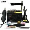 SAIKE 852D + + 2 en 1 estación de trabajo SMD Estación de soldadura de pistola de aire caliente ESTACIÓN DE desoldadura 220 V 110 V