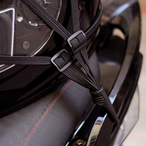 Image 3 - אוניברסלי 60cm אופנוע מטען רשת רצועת קבוע אלסטי אבזם חבל אופנוע קסדת נטו תחבושת שחור