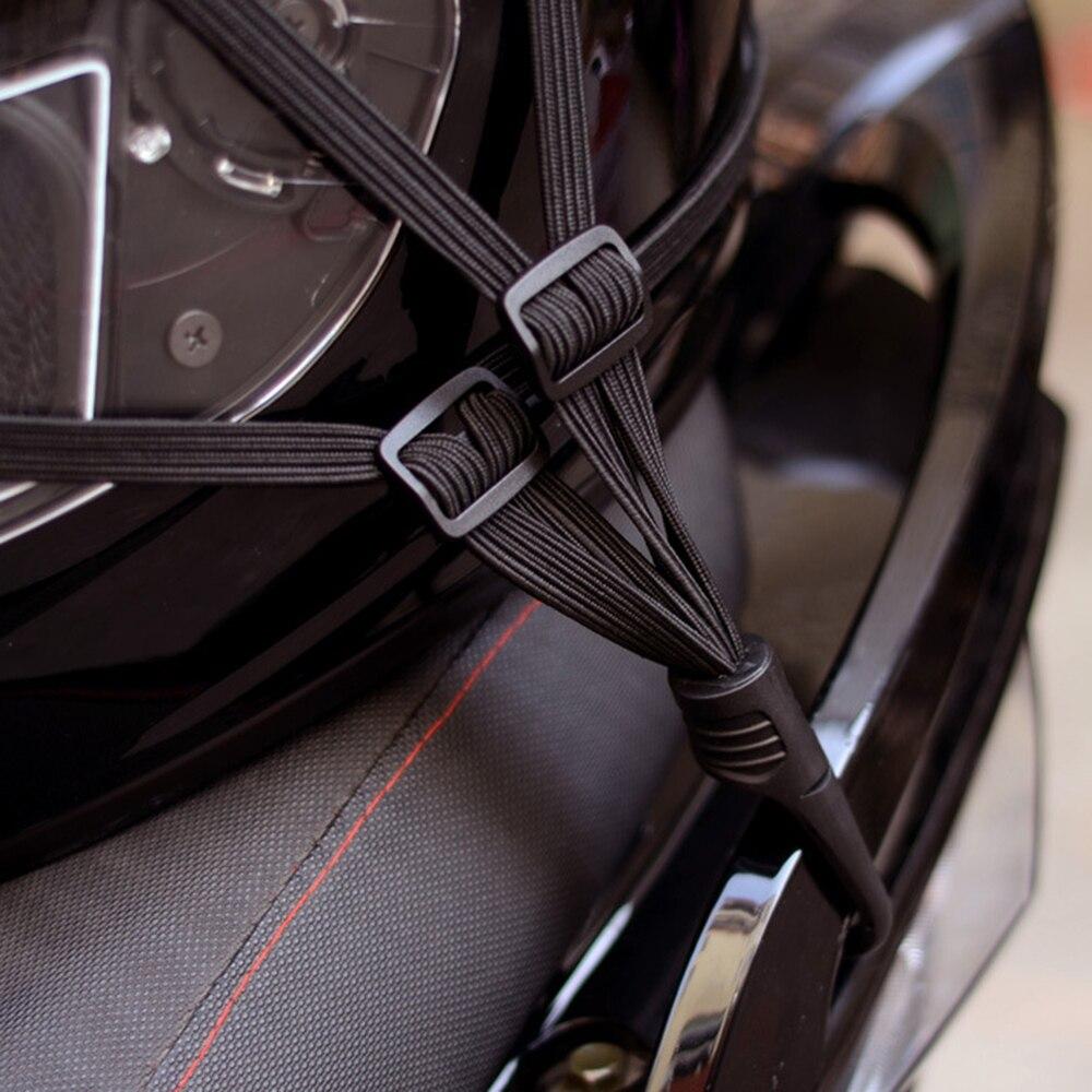 Image 3 - Universal 60cm Motorcycle Luggage Mesh Strap Fixed Elastic Buckle Rope Motorcycle Helmet Net Bandage Black-in Motorcycle Luggage Net from Automobiles & Motorcycles