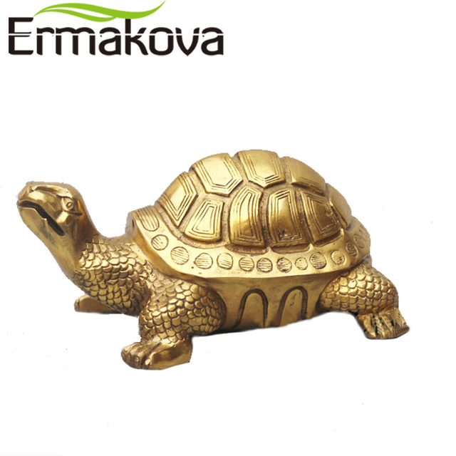 office fengshui. Interesting Office ERMAKOVA Antique Brass Tortoise Figurine Turtle Statue Feng Shui Animal  Sculpture Home Office FengShui Ornament Decor And Fengshui