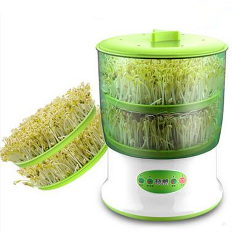 Hot Sale Automatic double Layers Bean Sprouts Machine Household Grow Bean Sprout Machine bear three layers of bean sprouts machine intelligent bean sprout tooth machine dyj b03t1
