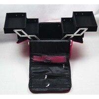 Professional Cosmetic Box Luxury Design Folding Beauty Box Makeup Cosmetic Nail Tech Bag Case Free Shipping