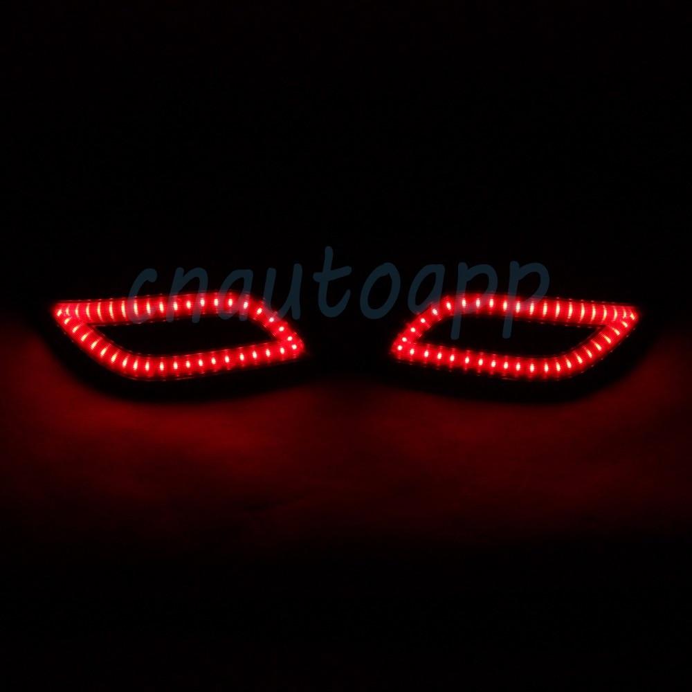 LED Rear Bunper Warning Lights Car Brake Light Running Lamp For Toyota VIOS 2015 2016 One