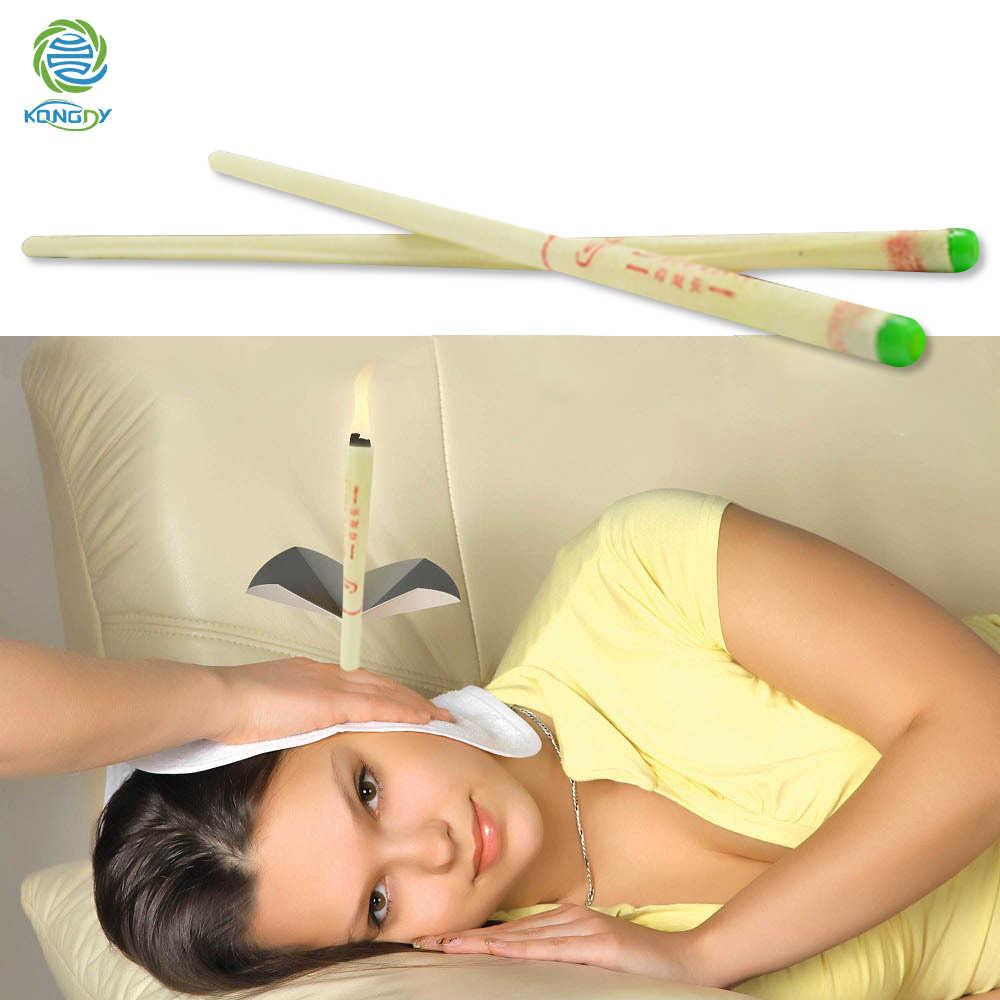 KONGDY 8 יח'\חבילה אוזן נרות טהור דבורה מנקה שעוות תרמו אוזן טיפול אוזן טיפול חרוטי & ישר סגנון ניחוח נרות
