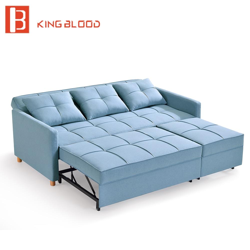 Hot New L Shaped Mechanism Fabric Corner Sofa Cum Bed