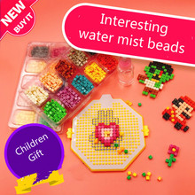 Water Droplets Bead Toy Creative Diamond Particles Magic Pixel Blocks DIY Handmade Assembled Spell Plug Gift for Children