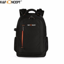 K F CONCEPT Multifunctional Waterproof Camera Backpack DSLR Bag Rain Cover hold 2 Camera Lens Items