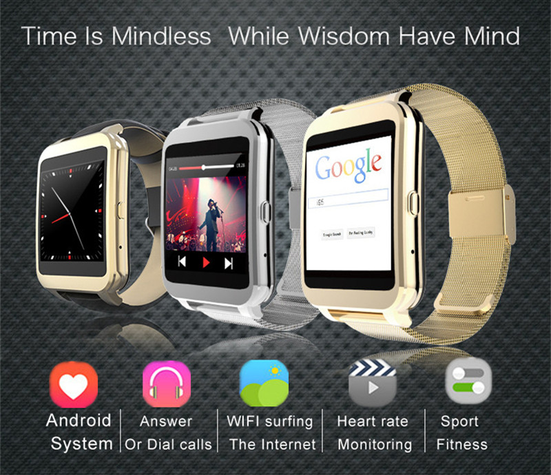 2016 New Arrival WIFI Bluetooth Smart Watch I95 4G ROM Camera Heart Rate MP3 Player Steel