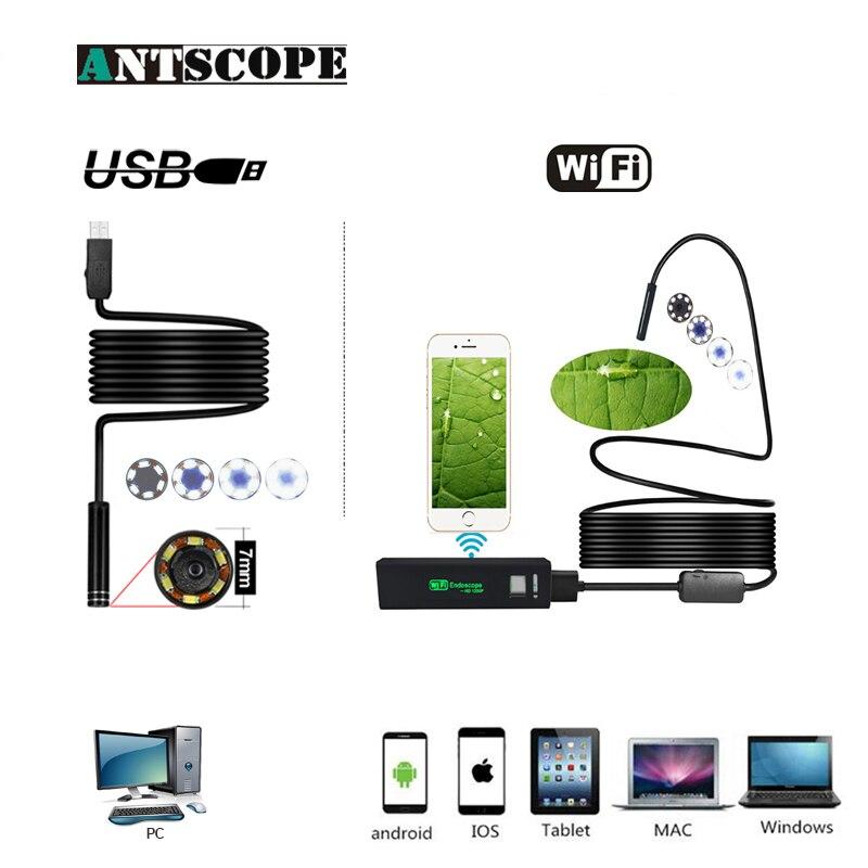 Antscope Wifi 8mm Endoskop 2/3. 5/5/10 mt Hardwire Wasserdichte 1200 p Android iOS 7mm Softwire USB Kamera Inspektion Boroscopio 19