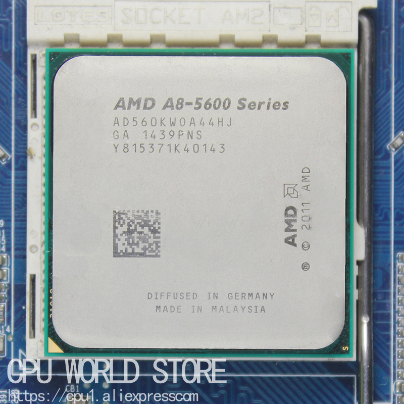 AMD A-Series APU X4 A8-5600K A8 5600K 3.6GHZ 32NM 100W Socket FM2 Quad-Core CPU Processor image
