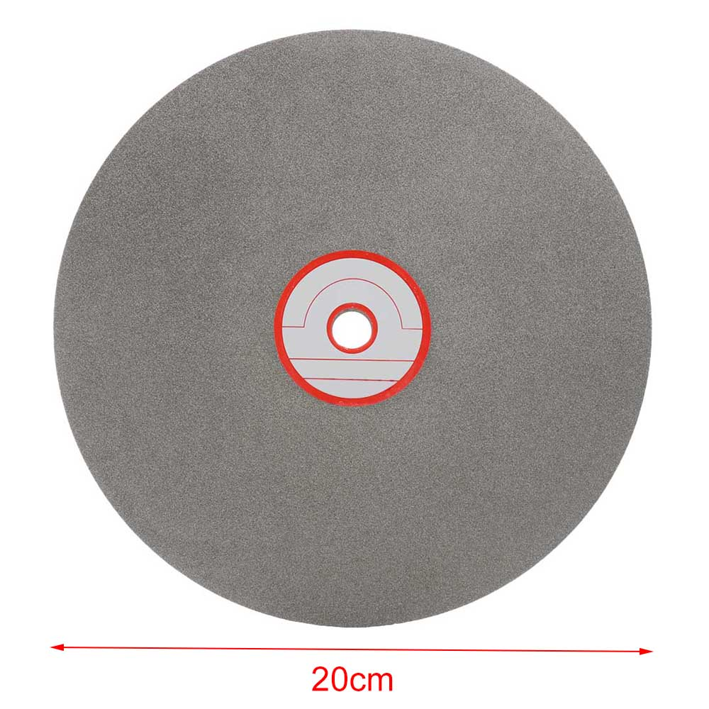 8 Inch 150 Grits Grinding Wheel Diamond Cutting Disc Polishing Wheels Coated Flat Lap Disk Lapidary Tools Gemstone Jewelry Glass