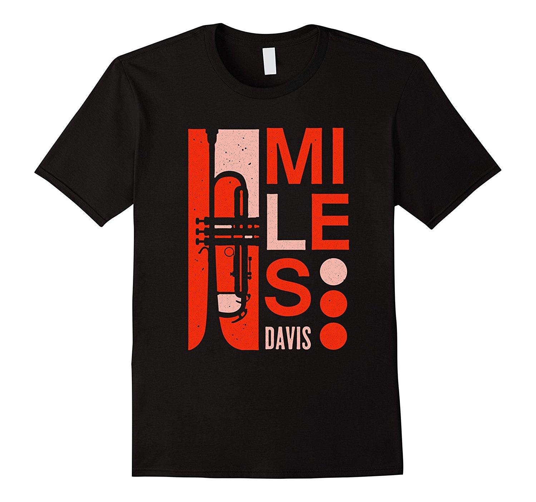 Miles Davis Déco Trompette T-Shirt Sous Licence Officielle Court Manches Coton T-Shirt
