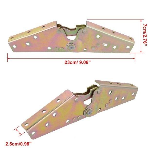 1pair Adjule Sofa Bed 0 Degree 45 75 Angle Mechanism Hinge 230mm