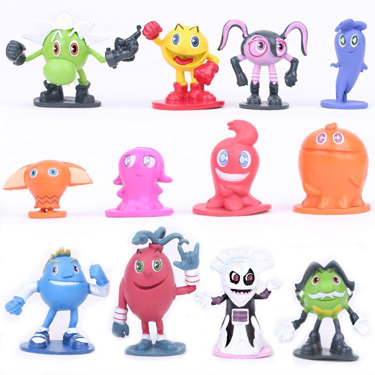12pcs/lot Hot Sale Pac Man Cute Cartoon Ghostly Adventures Action Figures Pacman Pixels Movie Figure Toys Great Gift For Kid A Complete Range Of Specifications Toys & Hobbies