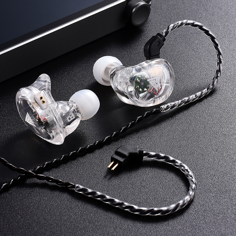QKZ VK1 Earphones with 4DD In Ear Earphone HIFI DJ Monito Running Sport Earplug Headset fone de ouvidoauriculares audifonos