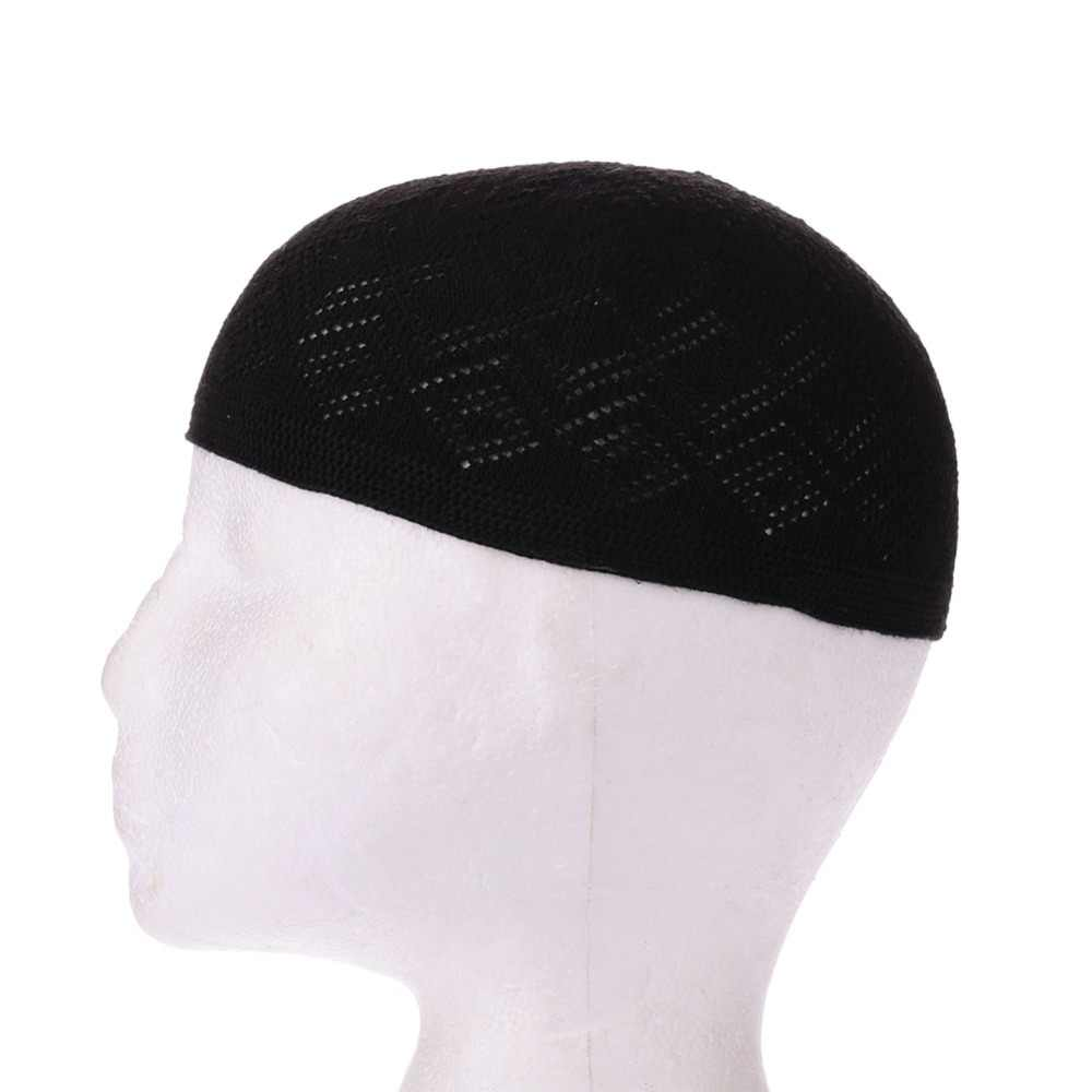 2018 มุสลิมใหม่ผู้ชายสวดมนต์หมวก Beanie ตุรกีตุรกีถักหมวกอิสลามหมวก Headscarf เสื้อผ้าอาหรับโครเชต์แฟชั่นอิสลาม