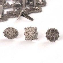 10 шт серебряные круглые квадратные винтажные брады для принадлежности для скрапбукинга «сделай сам» ремесла ручной работы металлическая застежка Брэд домашний декор c2576