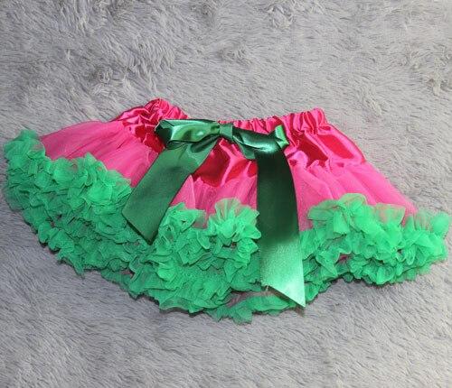 Юбка-пачка Одежда для маленьких девочек; нарядная одежда; юбка-пачка балетная юбка, пачка летняя одежда аксессуары для фотографирования новорожденных, ярко-розовым шифоном - Цвет: green ruffled