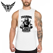 Muscleguys Brand Fashion Casual Men's Tank Top golds gyms stringer Bodybulding Super Saiyan Goku Train Fitness Sleeveless Vest